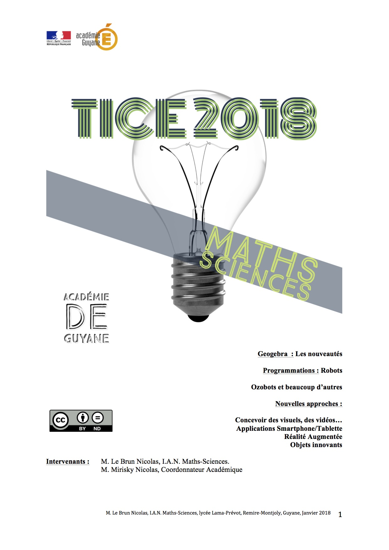 Formation TICE 2018